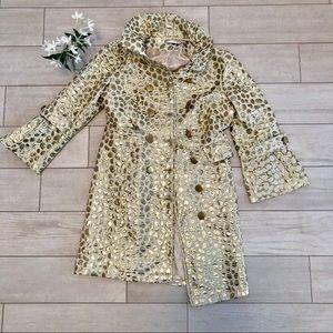 Fun and flashy gold and white polka dot jacket